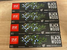 Splat BlackWood Whitening Toothpaste 4*75ML  Fresh Breath Shipping From Europe