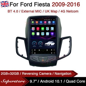 "9.7"" Tesla Style Android 10.1 Car Stereo Navi For Ford Fiesta 2009-2016 UK"