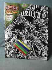 "Godzilla Origins Velvet Coloring 16"" x 20"" Poster w/Markers"