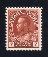 Canada Sc #114v (1920s) 7c Admiral w/'Line in N of CENTS' VF