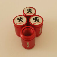PEUGEOT Red METAL SPORTS Valve Dust caps all Cars 7 COLORS UK DISPATCH 105 207