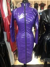 Misfitz purple Pvc pencil mistress dress 2 way zip size 20. TV Goth CD Pin Up