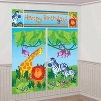 JUNGLE ANIMAL SCENE SETTER HANGING DECORATION PARTY SUPPLIES