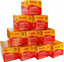 10 x KODAK COLORPLUS(Color Plus) 200 35mm 36exp CHEAP CAMERA  FILM  by 1st CLASS
