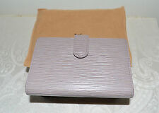 Preowned Excellent $975 LOUIS VUITTON Epi Leather French Wallet Lavendar