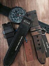 24mm Dark brown Handmade Genuine Leather vintage Watch Band / strap Apple watch
