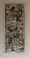 Tsara S ? gravure signée 1966 art abstrait abstraction abstract Madagascar