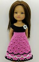 """Clothes for dolls Paola Reina doll 12""""/32 cm crochet dress for doll clothing"""