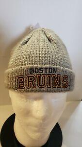 🔥🔥OFFICIAL BOSTON BRUINS NHL REEBOK HOCKEY KNIT BEANIE HAT KIDS YOUTH NEW🏒🏒