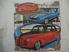 Chrome Specialty Car Insurance Collector Cars ET Motor Gear T Shirt Size L