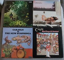 COLLECTION OF 4 x CARAVAN LP's-IF I COULD,GIRLS WHO GROW PLUMP,ST.DUNSTANS,LIVE