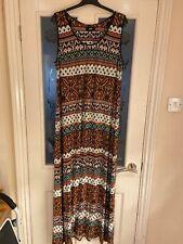 Ladies Clothes Size Large Wallis Summer Maxi Dress (82)