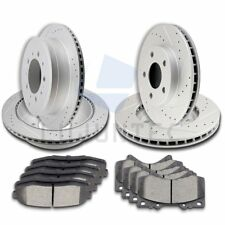 Front Rear Brake Discs Rotors & Ceramic Pads For 2010 2011-2015 Toyota Tundra