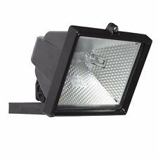 400W Garden Halogen Floodlight-Black Outside Garden  Light + FREE Bulb/P&P