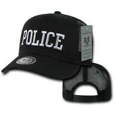 Black Police Officer Law Enforcement Cop Cotton Baseball Trucker Mesh Cap Hat