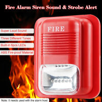 Wireless Sound Light Fire Warning Alarm 110dB Siren Horn Strobe Alert DC 12/24V