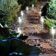 Blumfeldt Vitus Solarleuchten Gartenbeleuchtung 4er Set Edelstahl 6x27cm