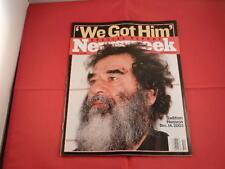 NEWSWEEK SPECIAL REPORT EDITION MAGAZINE - WE GOT HIM!!! SADDAM HUSSEIN 12-14-03
