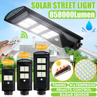 4000W LED Solar Street Light Motion Sensor Outdoor Wall Lamp + Timing Controll
