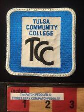 Vtg Jacket Patch TULSA COMMUNITY COLLEGE OKLAHOMA Blue 61Z5