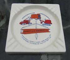 1960s Merit Advertising CASEY And EMMERT Construction Equipment Ashtray Chicago