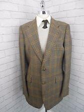 Vintage 1960s Men's Brown Orange Checked Tweedy Retro Blazer Jacket 42L