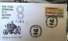 SPANISH ESPANA F.I.M.A. TRACTOR COVER AND POSTMARK1991