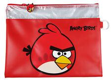 1 pc Angry Birds  File Holder - PVC Document Folder Bag # Red