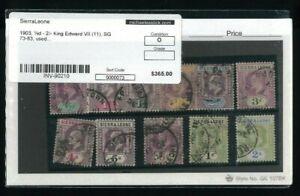 Sierra Leone Scott #'S 64-74, SG #'s 73-83 Stamps cat