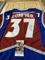 J.T. Compher Autographed/Signed Jersey JSA COA Colorado Avalanche JT
