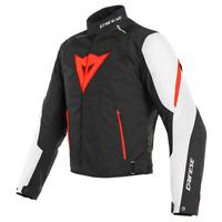 Giacca moto Dainese Laguna Seca 3 Dry nero bianco rosso U25 taglia 50