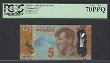New Zealand 5 Dollars (2015) P191 Uncirculated Graded 70