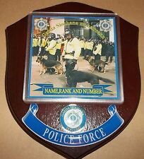Irish Police/Garda Dog Unit Wall Plaque personalised free of charge.