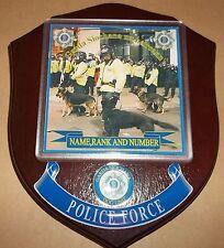 Irish Police/Garda Dog Unit Wall Plaque personalised free of charge.