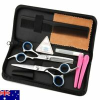AU Hair Scissors Silver Hairdressing Tools Shears Set Professional and Family