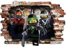 Lego Ninjago 3d Wall Tattoo Wall Sticker Children Decoration Wall Stickers 80x57cm