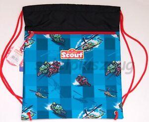 Scout Sportbeutel Helikopter Turnbeutel blau NEU