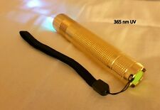 BluAngel Gold 365nm UV LED Superbright (3W) Black Light Rechargeable+Charger