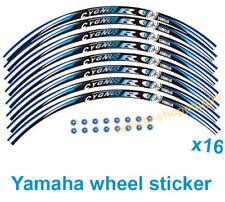 Yamaha Wheel Sticker Blue Reflective Cygnus Motorcycle Rim Decal Tape Stripe 16x
