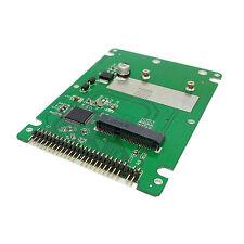 White mSATA mini PCI-E SATA SSD to 2.5 IDE 44pin Notebook Laptop hard disk case