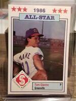 1986 Southern League All-Stars RC #23 Tom Glavine Rookie Card Atlanta Braves HOF