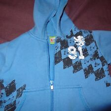 Jacket Full Zipper Hooded Blue Griffin 91 Size 12 Months Boys Kidgets Baby