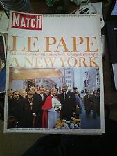Paris Match n°862 16 oct 1965 le pape à new york passer le mur de berlin