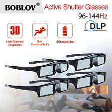 4x 3D DLP-Link 144Hz Active Shutter Glasses For DELL Optoma Acer Sharp Projector