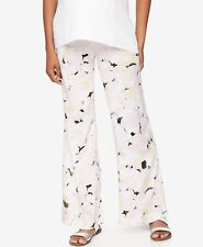 $130 A Pea In The Pod Maternity Womens White Print Wide Leg Soft Pants Size Xs