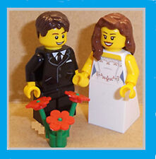 Lego Bride and Groom Minifigs CHOICE of HAIR.. HEADS. FLOWERS or SUITS AVAILABLE