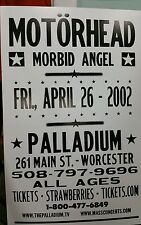MOTORHEAD..MORBID ANGEL..Block Print Concert Poster WORCESTOR..M.A.