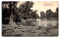 Early 1900s Boating near Flemington, NJ Postcard