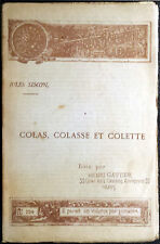 Jules Simon, Colas, Colasse e Colette, Ed. Henri Gautier, 1891