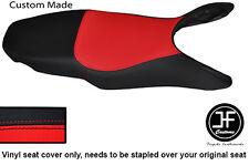 BLACK & RED AUTOMOTIVE VINYL CUSTOM FITS HONDA VFR 800 98-01 SEAT COVER ONLY